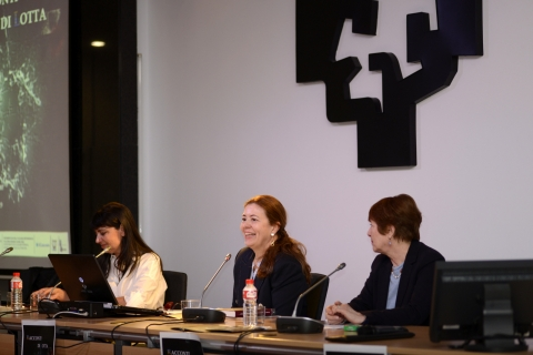 Dagmar Reichardt (center) at the Bilbao Congress in 2019