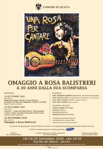 30 Years After: Rosa Balistreri and Sicilian Folk Music