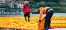Christo's Land Art installation at lago d'Iseo, Italy